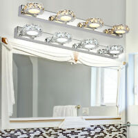 2/3/4Way Bathroom LED Crystal Mirror Light Wall Fixture Vanity Lights Waterproof