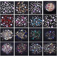 Flat Back Nail Art Crystal Rhinestones Mixed Stones Nails 3D Decoration