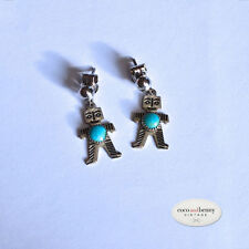 *Vintage Mid Century Navajo Figure with Turquoise Earrings