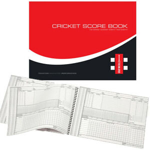 Gray Nicolls Cricket Score Book - 60 Innings - Summary Sheet - Team Sheet