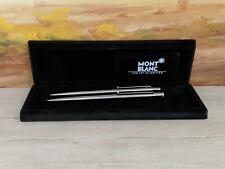 Vintage MONTBLANC Slim Line Stainless Steel Ballpoint & Mechanical Pencil Set