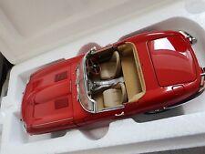 AUTOart Jaguar E-Type 3.8 Roadster Series 1 1961 rot 1:18 mit Echtleder