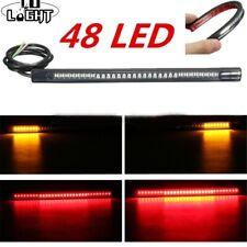 Flexible Tail Led Strip 48 Leds Stop Light Motorcycle Auto Turn Signal Brake