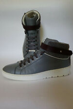 DIOR HOMME - Baskets Sneakers Top 39,5 40 6 7 Gris Grey Cuir Calfskin FW12 AW12
