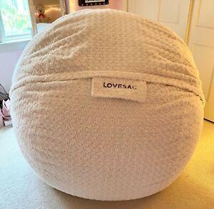 LoveSac SuperSac Beanbag + Eskimo Swirl Phur Cover, Perfect Condition