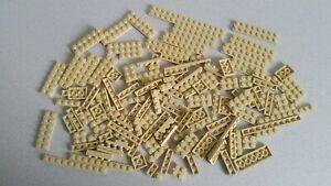 Lego  135x Basic flach Plättchen Tan Sand Beige verschiedene Größen
