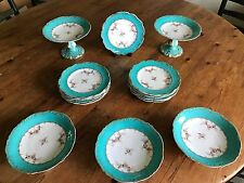 Antique English Coalport Rococo  Dessert Service, Mid 19th Century