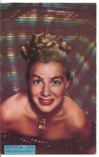 Org 1940s Semi Nude Pinup PC- Movie Card- Actress- Betty Hutton- Red Hot & Blue
