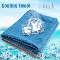 Ice Cold Instant Cooling Towel Running Jogging Gym Chilly Pad Sports Yoga 2 Pcs