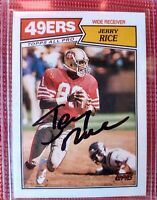 1987 Topps Jerry Rice #115 AUTO AUTOGRAPH SIGNATURE  HOF GOAT 2ND YEAR CARD