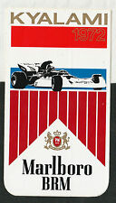 Original MARLBORO BRM équipe F1 Kyalami 1972 Marko période course autocollant aufkleber