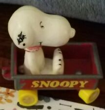 Vtg Aviva Snoopy mini Diecast wagon series Snoopy Wagon