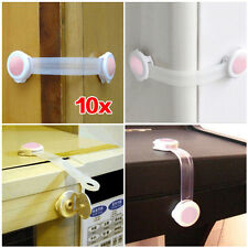10x Toddler Baby Kid Child Drawer Cupboard Cabinet Door Fridge Safety Lock AD