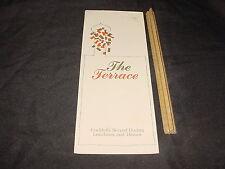 VINTAGE MENU hotel Room service THE TERRACE 40cent California wine 1970 4-fold
