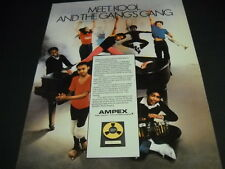 Kool & The Gang Meet Kool And The Gang's Gang vintage Promo Poster Ad Ampex