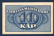 BILLET de BANQUE - LETTONIE - 10 KAP Pick n° 10 de 1920 en SUP dimension 55x35mm