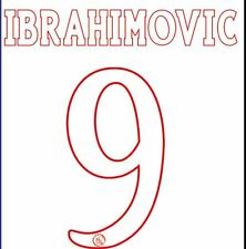 IBRAHIMOVIC #9 AJAX 2003-2004 HOME FOOTBALL Nameset per maglia