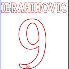 Ibrahimovic #9 Ajax 2003-2004 Home Football Nameset for shirt