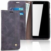 Wiko Lenny 5 Etui pour Téléphone Mobile Schutz-Tasche Coque Étui Rabattable Gris