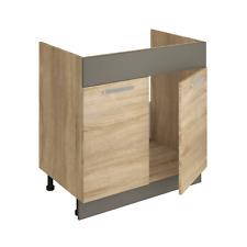 Spülschrank ALINA 80 cm Küchenschrank Küche Einbauküche Sonoma Eiche NEU