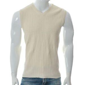 Tommy Hilfiger Men's Casual V-Neck Knitted Ribbed Tank Vest Sleeveless Size M