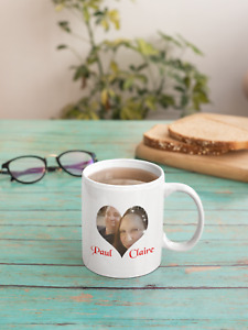 Heart photo MUG AND COASTER SET  gift for the one you love .