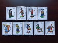 Monaco Postage Stamps 1984 Scott #1448-1456 Christmas Provence figures Mint NH