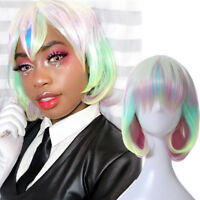 Land of the Lustrous Houseki no Kuni Diamond Short Bob Wig Full Hair Cosplay Wig