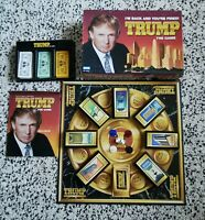 TRUMP THE BOARD GAME By Parker Brothers Complete Donald Trump Vintage Retro