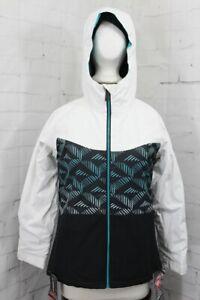 686 Athena Insulated Snow Jacket, Girl's Youth Medium, Cross Hatch Fade New