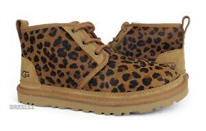 UGG Neumel Leopard Natural Fur Shoes Womens Size 8 *NIB*