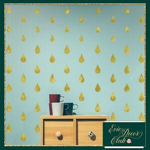 RAINDROPS vinyl wall stickers GOLD Decal Child Vinyl Decor Geometric Room modern