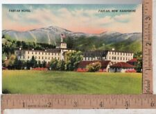 1930s-50s unused LINEN post card FABYAN HOTEL, FABYAN, NH
