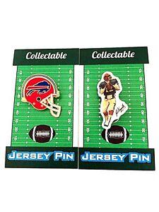 Buffalo Bills Jim Kelly jersey lapel pin & helmet-Classic Collectibles-HOF 2002