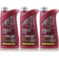 3L Original MANNOL Basic Plus 75W-90 API GL 4+ Öl Getriebeöl MN8108-1