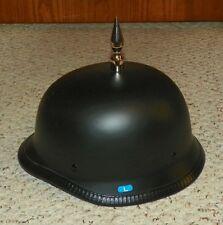 Novelty Low Profile Spiked German Half Helmet / Skull Cap (Lrg) - Matte Black