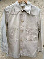 Dries Van Noten Japanese Chore Western Shirt Jacket Off White Ivory Mens S 12