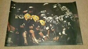 1972 SPORTS ILLUSTRATED STUDIO ONE PACKERS VS COWBOYS RARE VINTAGE POSTER 24X36