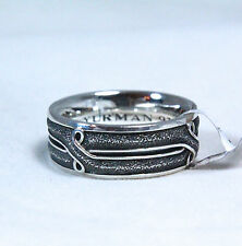 David Yurman Men's 8MM Armory Crossover Band Ring Sterling Silver 10 $375 NWT