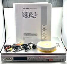 Pioneer Dvr-231 Dvd Recorder & Player Pure Cinema W/ Remote Cables Dvd *Tested*