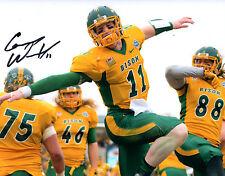 Carson Wentz Reprinted autographed signed 8x10 photo North Dakota State Bison!!