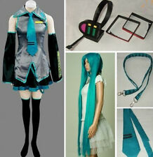 Vocaloid 2 Hatsune Miku Cosplay Costume + Wig + Headphone full set