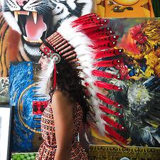 HANDMADE CHIEF INDIAN HEADDRESS 90CM FEATHERS Native American Costume war bonnet