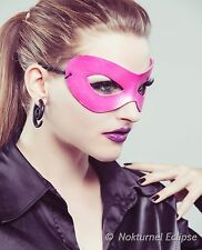 Pink Masquerade Leather Mask Anime Halloween Superhero Cosplay Costume UNISEX
