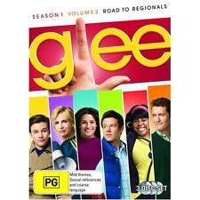 GLEE - SEASON 1 VOLUME 2 ROAD TO REGIONALS - BRAND NEW & SEALED R4 DVD (4-DISC)
