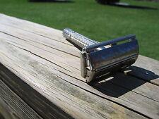 Gillette 1958 Silver Tone Flare Tip Super Speed  DE Safety Razor (D-1)