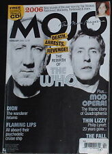 The Who,Quadrophenia,Flaming Lips,Thin Lizzy,Dion Feb 2006 Mojo UK magazine