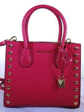 Michael Kors Studio Mercer Heart Pink Leather Medium Messenger Bag 30H7GM9M2U
