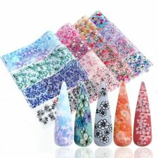 16pcs Holographic Nail Foils Rose Flower Transfer Slider Sticker Japanese Decals