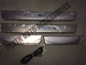 "Y62 Nissan Patrol ""Nismo Style"" Door Sill-Side Kick Plates with lights."